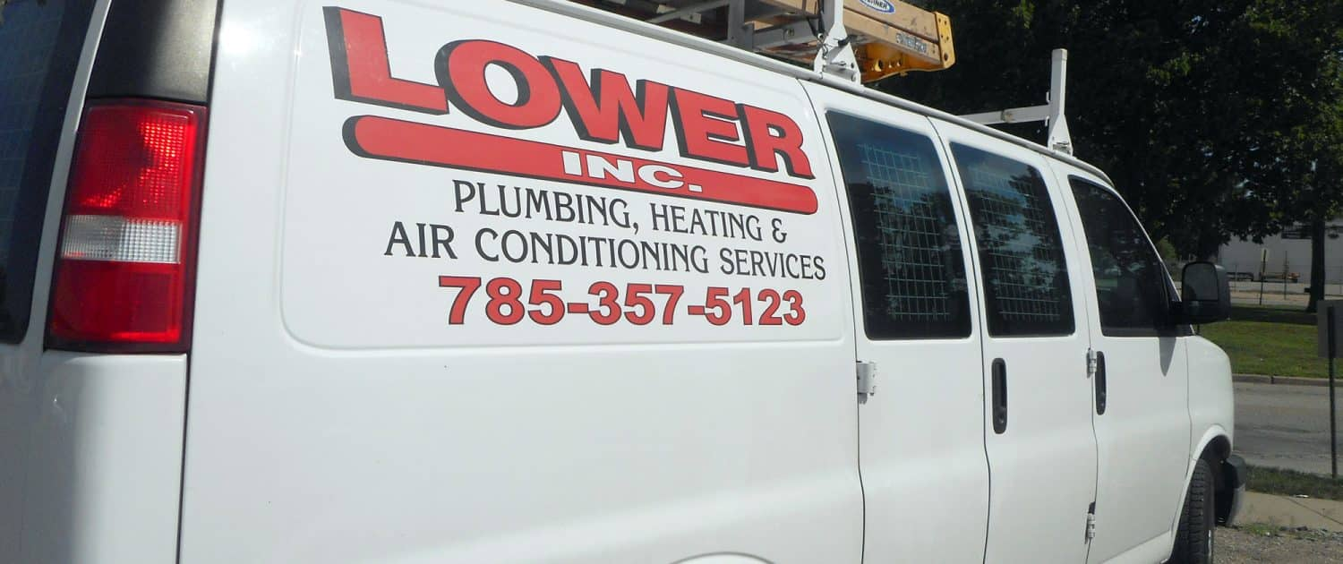 Lower Plumbing, heating and air truck at Lower Plumbing, Heating and Air, 501 SE 17th Street, Topka, KS 66607