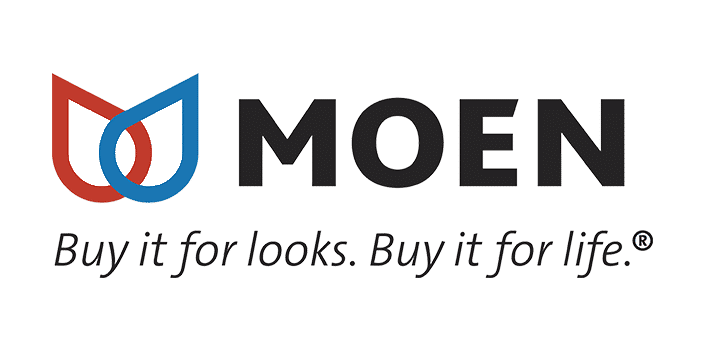 Moen Logo for Lower Plumbing, Heating and Air, 501 SE 17th Street, Topka, KS 66607