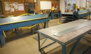 Sheet metal fabrication by Lower Plumbing, Heating and Air, 501 SE 17th Street, Topka.