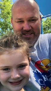 Scott Emperley and his daughter